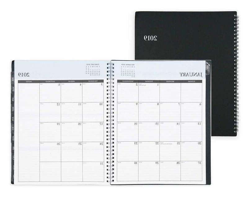 2019 weekly and monthly planner flexible cover
