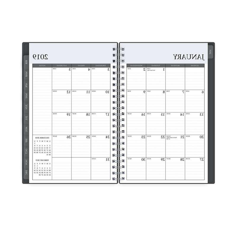Blue Sky 2019 Weekly Monthly Planner Twin Wire