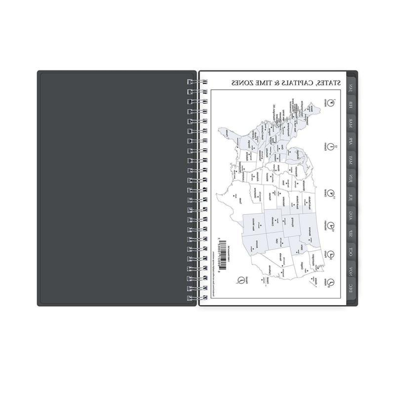 Blue Sky Monthly Planner Cover Twin Wire Binding