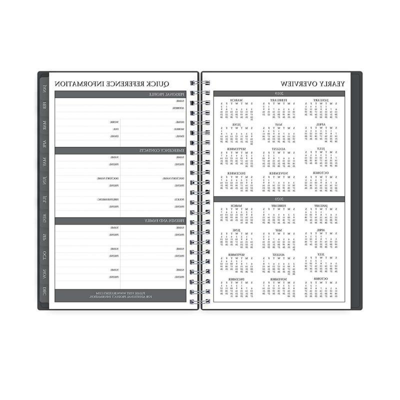 Blue Sky Monthly Planner Cover Twin
