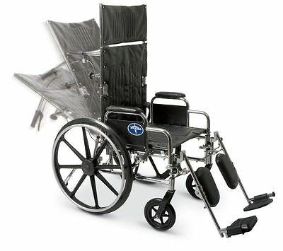 22 excel reclining wheelchair mds808650 350 lb