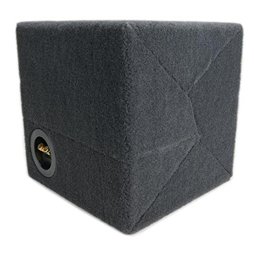 "0.30 ft^3 Sealed MDF Sub Single Audio W3v3 Car Subwoofer - 3/4"" - Made in"