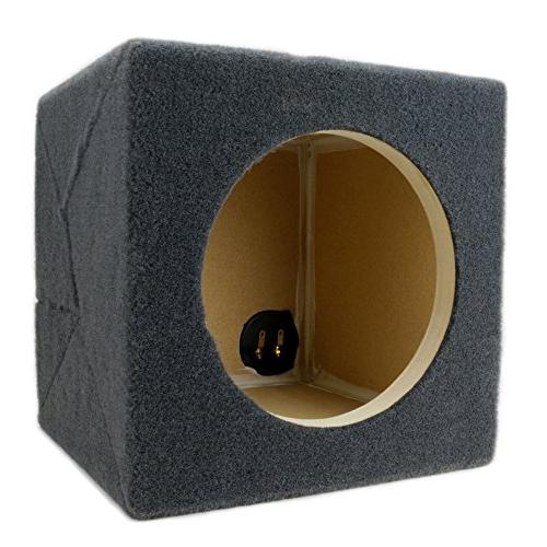 "0.30 Sealed Sub Single Audio W3v3 Car 3/4"" MDF - Made"