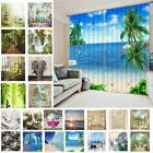 3D Scenic Chinese Style Blackout Window Curtain Panel Shower