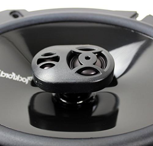 "4) Rockford Fosgate P1683 6x8"" 3 Car Coaxial Speakers"