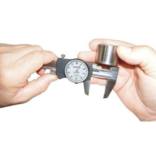 """Mitutoyo Dial Inch, Face, for Inside, Outside, and Step 0""""-8"""" Range, +/-0.002"""" Accuracy, 0.001"""" Resolution, Depth"""