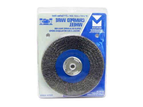 "8"" Inch Crimped Wheel for Grinder Deburring 1/2"", 5/8"" Arbor"