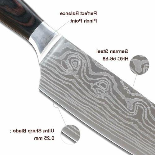"""8"""" inch Knives Damascus New"""