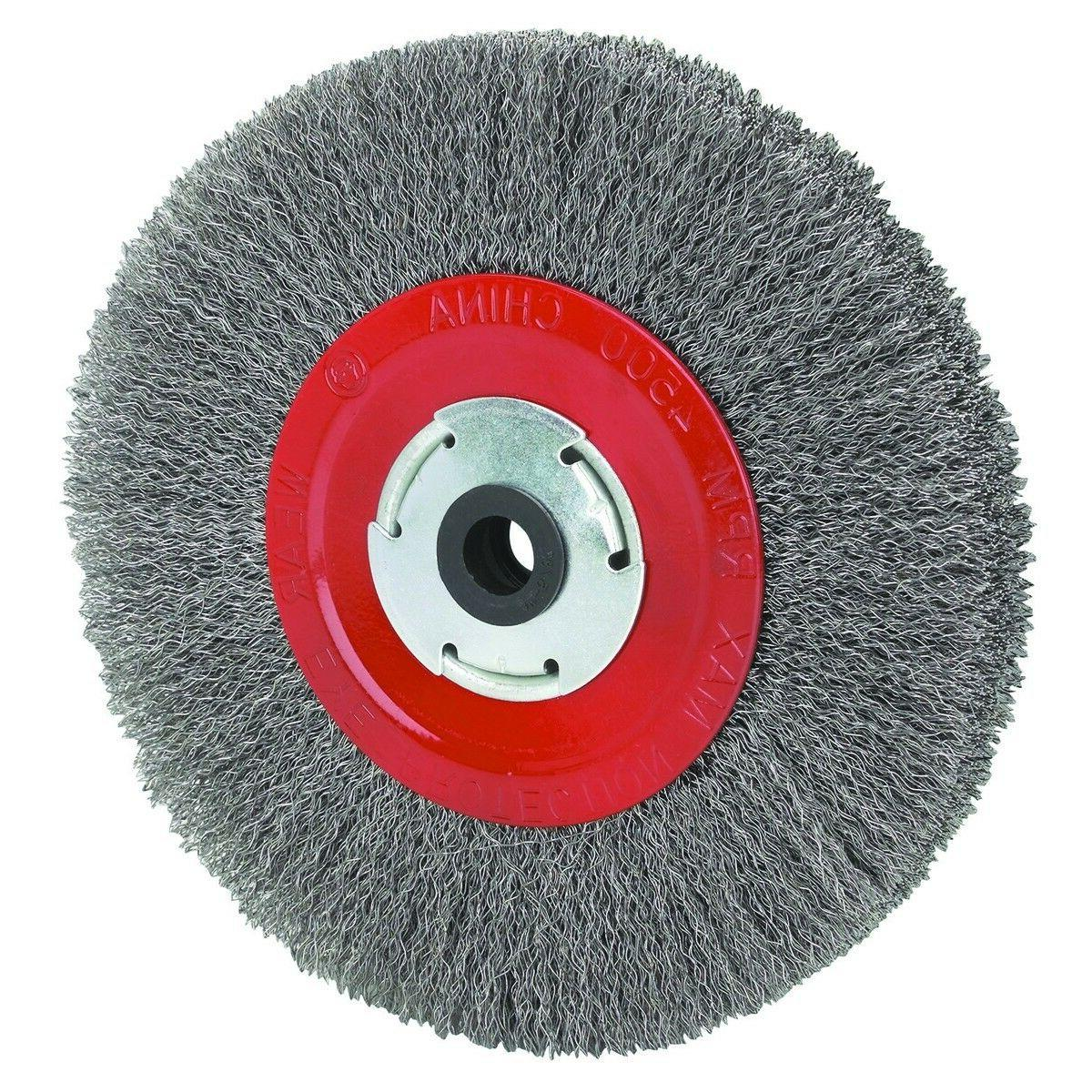 8 inch round wire wheel for bench