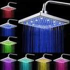 """8"""" inch Square Rain 7 Automatic Changing Color LED Light Sho"""