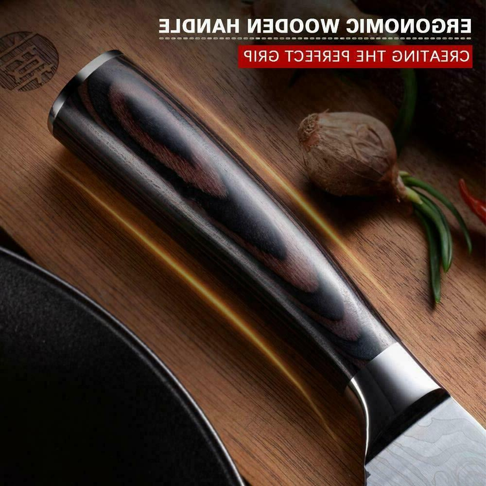 8 Kitchen Meat Cleaver Damascus Stainless