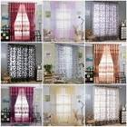 Decor Sheer Curtain Window Curtains Metal Eyelet Voile Panel