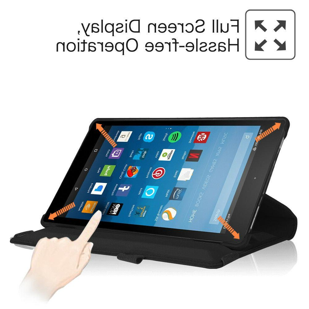 For 8 inch 8th 2018 Tablet Rotating Cover