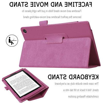 For Kindle Fire 8 2018 Gen 8 PU Leather