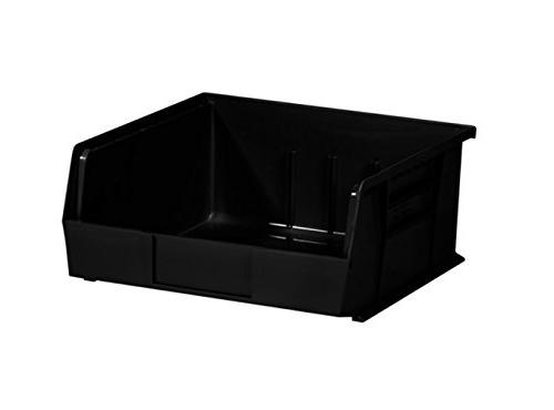 black plastic stack hang bin