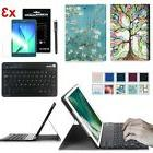 Bluetooth Keyboard + Screen Protector + Case Cover For Samsu