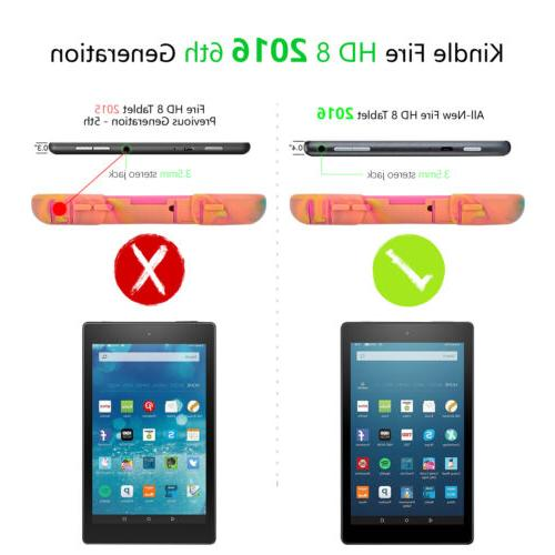 Case Fire HD 8 2016 Hybrid Tablet Protector