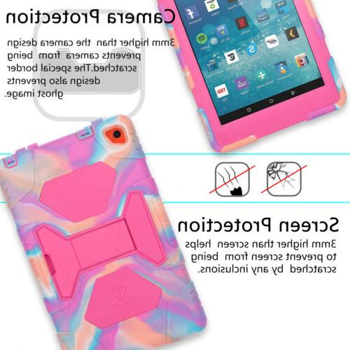 Case For Kindle Fire 8 2016 Hybrid Tablet Cover+Screen Protector