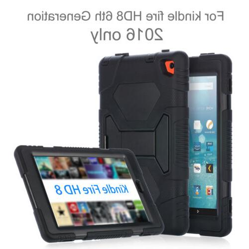 Case For Kindle Fire HD 2016 Cover+Screen Protector
