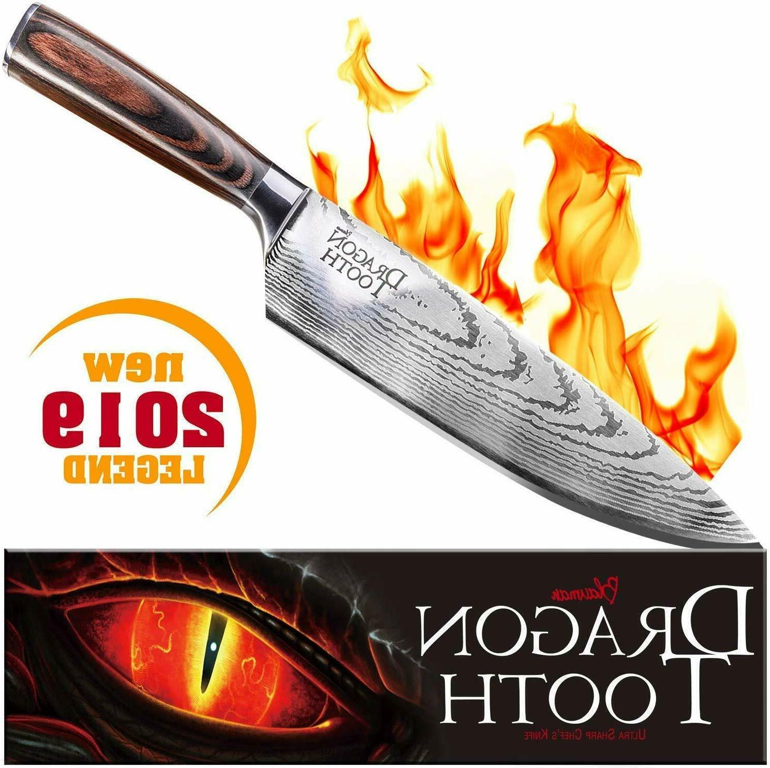 fire chef knife 8 inch stainless steel