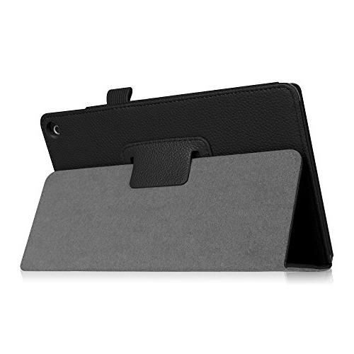 All-New Fire 8 Tablet Fit Vegan Leather Standing Protective Cover,