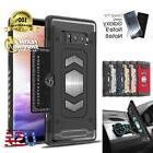Full Body Armor Galaxy Note 9 8 Case Card Holder Slot for Ma