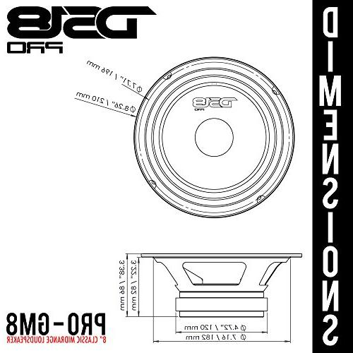 """DS18 PRO-GM8 8"""", Basket, 580W Max, 190W RMS, Premium Quality Speakers Truck"""