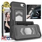 iPhone X 8 7/+ Case Magnetic Dual Layer Armor Wallet Card Sl