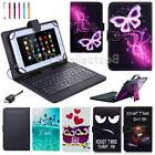 Leather Case USB Keyboard Cover For HuaWei MediaPad T3 M3 7""