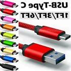 ✔ LOT- Nylon Braided Rope USB-C Type-C Data Sync Charger C