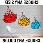 lotus flowers tropical boho party decals sticker