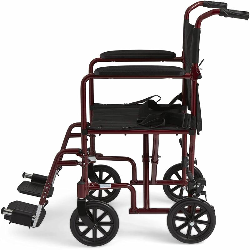 Medline Aluminum with Wheels, 8 inch