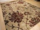 Modern Rug Contemporary Area Rugs Burgundy 8x10 Abstract Car