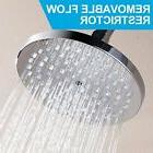 NEW 6 Inch Rainfall High Pressure Fixed Shower Head Adjustab