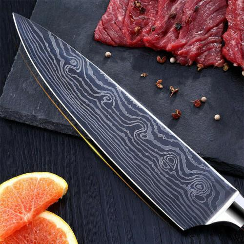 NEW 8 Damascus Pattern Carbon Steel Cutter Handle