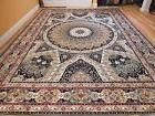 Silk Persian Rugs 8x10 Qum Hand Knotted Fringes 5x8 Traditio