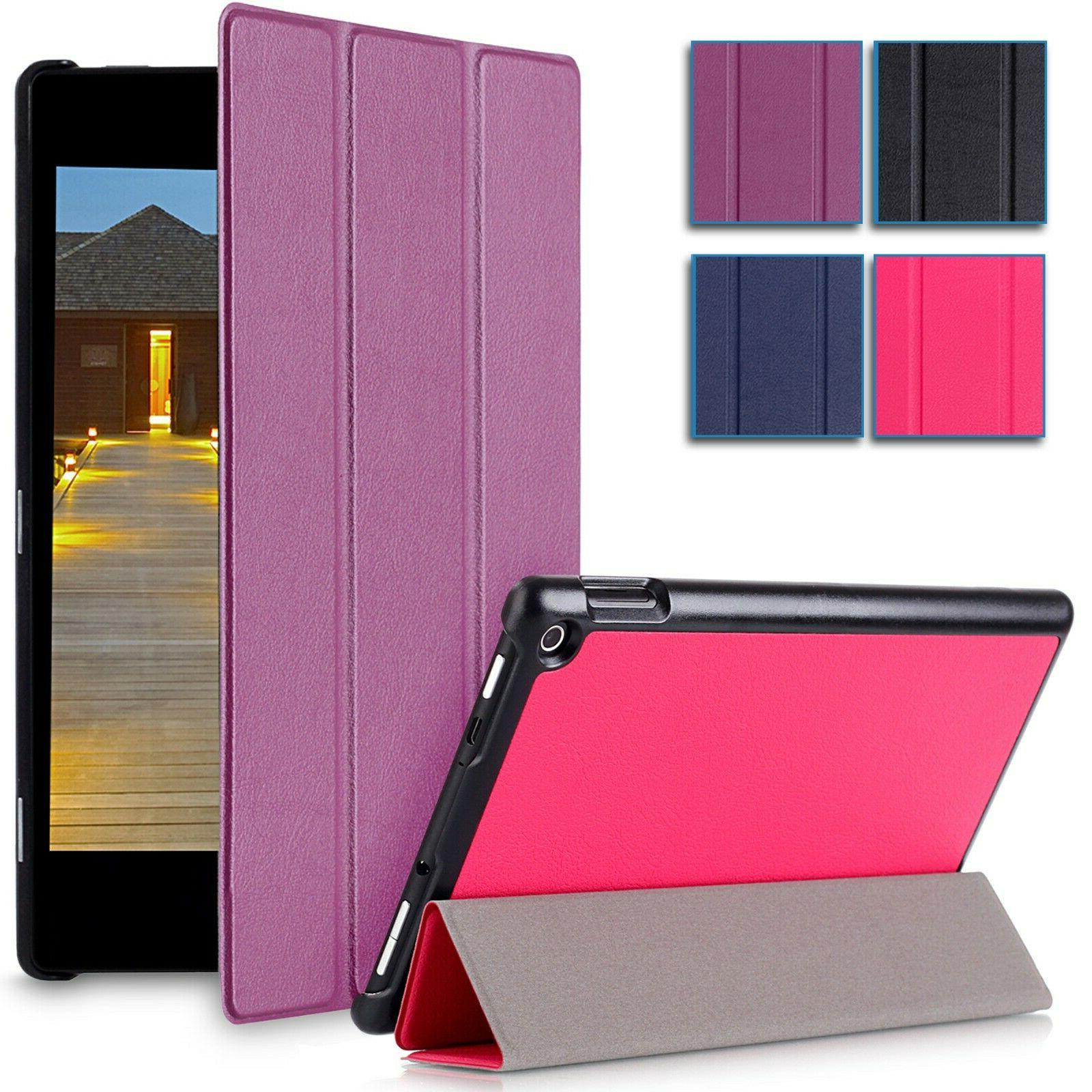 slim leather folio smart case stand