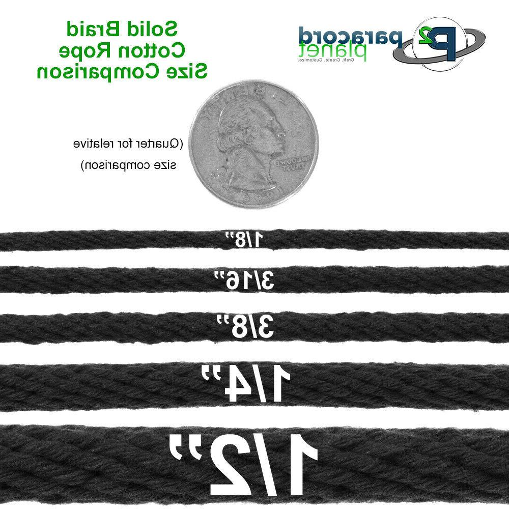 Solid Braid Rope – 3/8, 3/16, 1/8 Inch Sizes