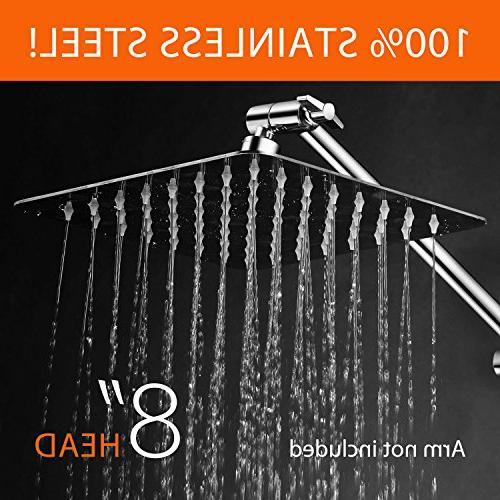 HotelSpa Steel Shower Waterfall and 64 Easy-to-Clean Install Without Tools Finish