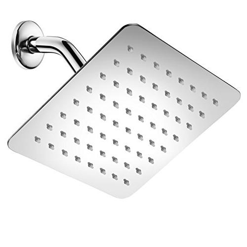 HotelSpa 100% Stainless Steel Head with Ultra-Thin Waterfall Coverage, Easy-to-Clean Jets, Without Chrome Finish