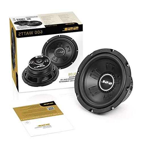 Sound Subwoofer Maximum Power, 8 Inch, Dual 4 Ohm Coil, Easy Mounting