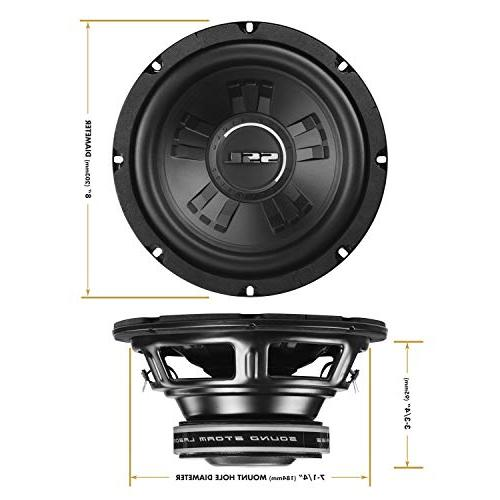 Sound Car Subwoofer Maximum Power, Dual 4 Coil, Easy Mounting