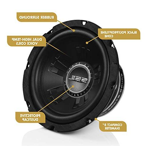 Sound Subwoofer 600 Maximum Power, Dual 4 Voice Coil, Easy Mounting