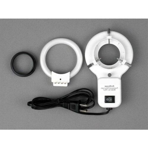 AmScope Stereo Microscope on Boom Ring Light