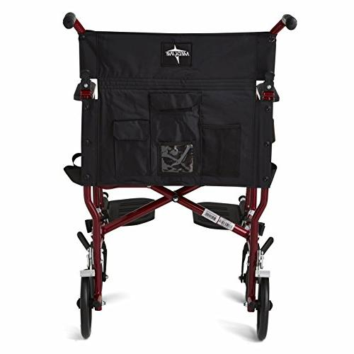Medline Wheelchair, Wide Permanent Arms, Away Footrests, Frame