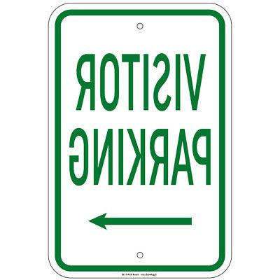 visitor parking with right arrow sign 8