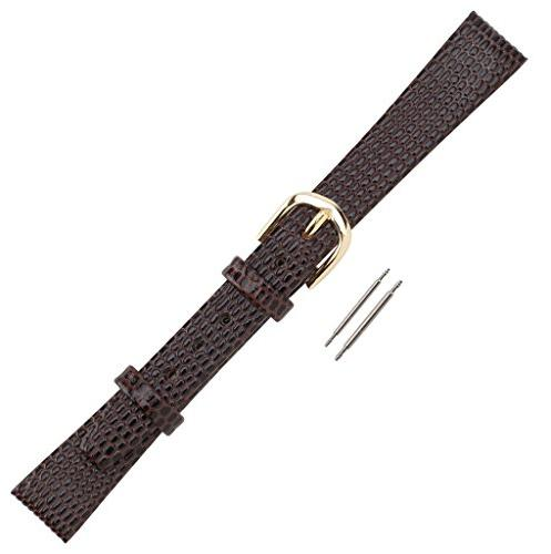watch band flat lizard grain leather replacement
