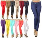 Women's Classic Solid Cotton Blend Jeggings Soft Skinny Stre