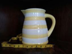 Large approx 8 inch Graces Pantry pitcher, yellow white