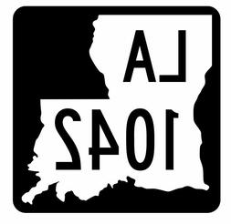 Louisiana State Highway 1042 Sticker Decal R6302 Highway Rou